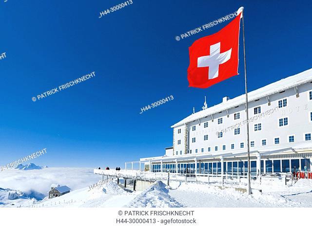Gipfel Rigi Kulm, Schweiz