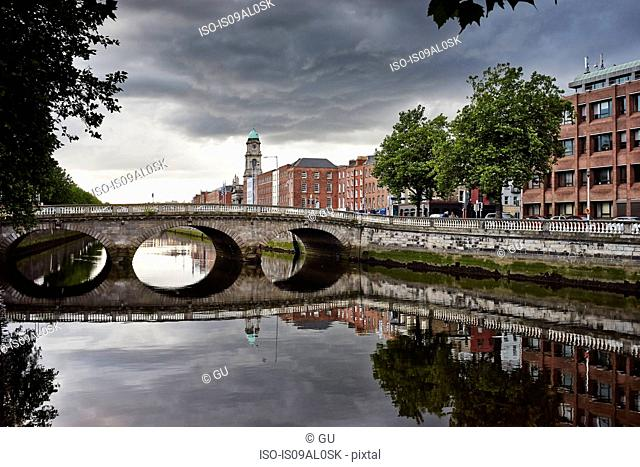 Mellows bridge over river Liffey, Dublin, Republic of Ireland