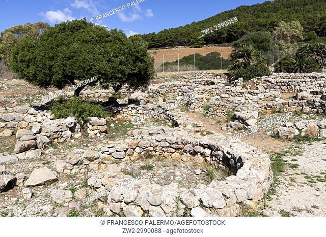Ruins of the ancient Nuraghic civilization of Palmavera. Alghero, Sardinia. Italy