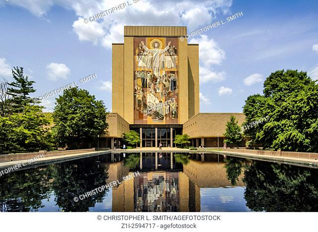 The Theodore Hesburgh Library at the Notre Dame University IN
