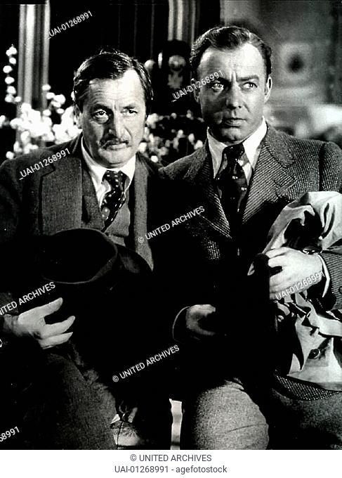 Hans Moser, Heinz Rühmann Troedler Alois Hofbauer (Hans Moser) und Felix Rabe (Heinz Rühmann) *** Local Caption *** 1938, 1930er, 1930s, Dreizehn Stühle, Film