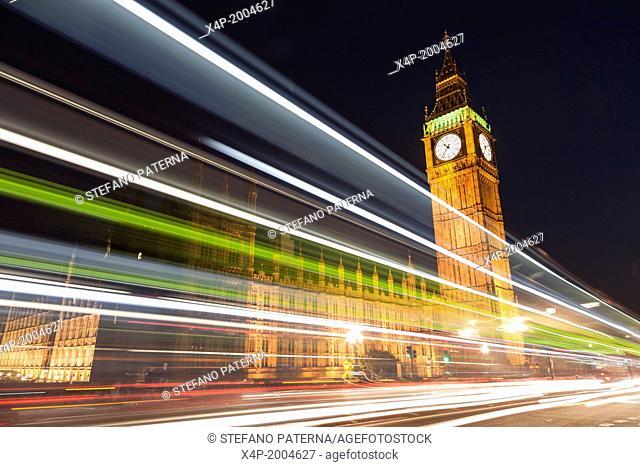 Palace Of Westminster, Houses Of Parliament, Elisabeth Tower, Big Ben, London, UK