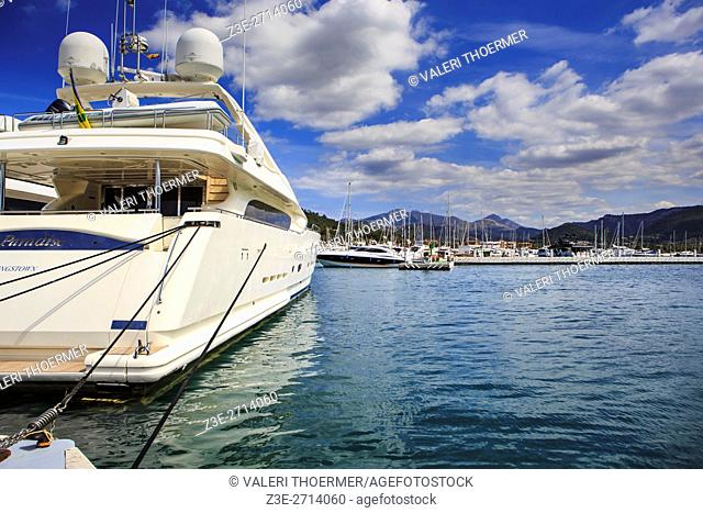 Port d'Andratx on Mallorca Island, the Balearic Islands, Spain