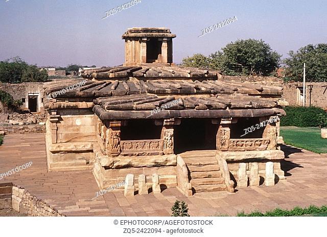 Indian History, Durga temple C 700 AD, general view, Aihole, Karnataka