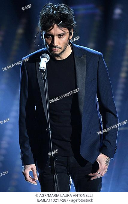 Federico Moro on stage during the 67th Sanremo Music Festival 2017, Italy - 11 Feb 2017