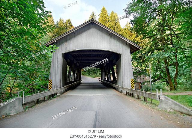 Covered Bridge over Cedar Creek in Washington