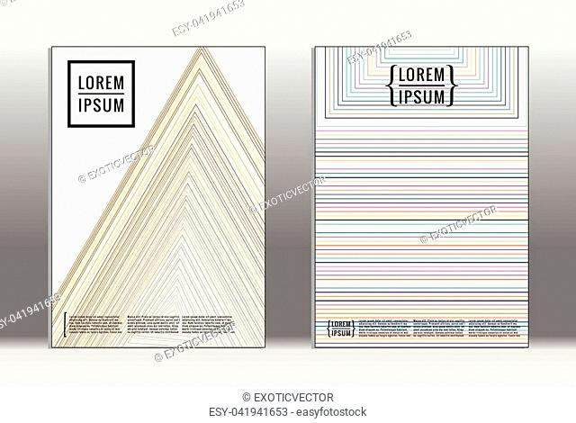 Vector graphic geometric covers with minimalistic pattern for templates, layouts, posters, brochures, catalogs, flyers. Set of placards with minimalistic...
