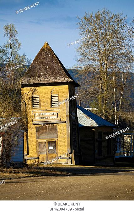 St. andrew's church, a klondike gold rush era building, dawson city, yukon