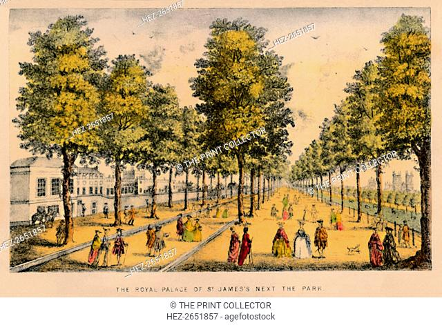 'The Royal Palace of St. James's Next The Park', c1870. St James's Park is a 23-hectare (57-acre) park in the City of Westminster, central London