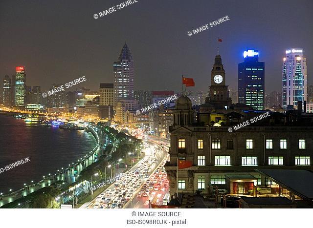 The bund shanghai at night