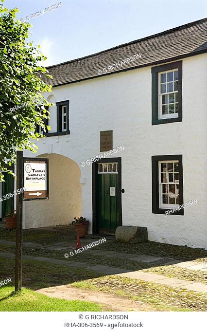Thomas Carlyle's house, Ecclefechan, near Dumfries, Dumfries & Galloway, Scotland, United Kingdom, Europe