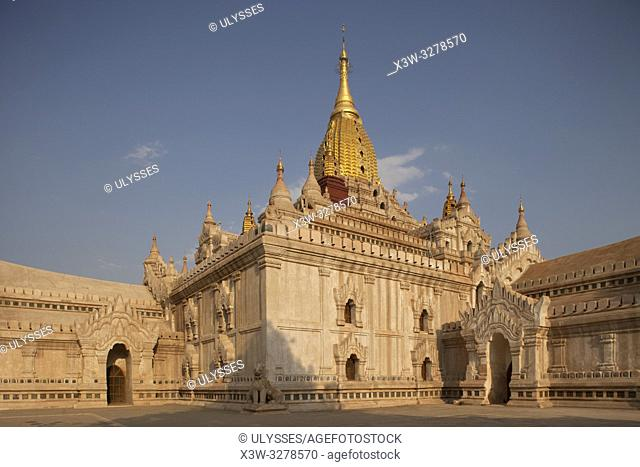 Ananda temple, Old Bagan village area, Mandalay region, Myanmar, Asia