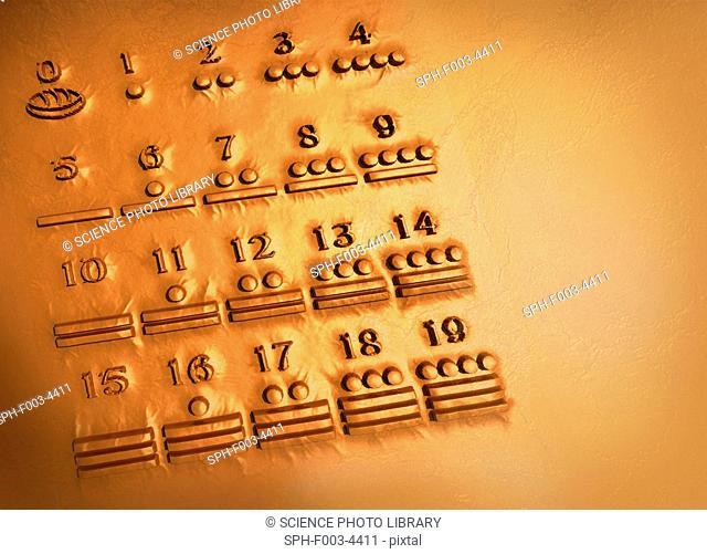 Maya numerals, computer artwork