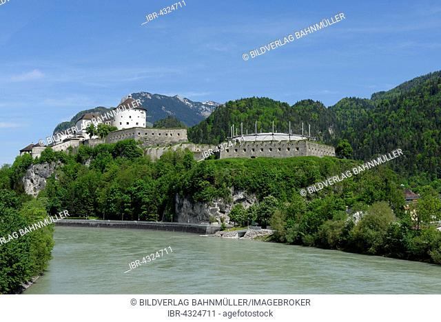 Kufstein Fortress above the Inn river, Inntal valley, Tyrol, Austria