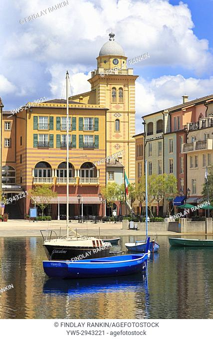 Portofino hotel, part of Universal Studios theme park, Orlando, Florida, USA