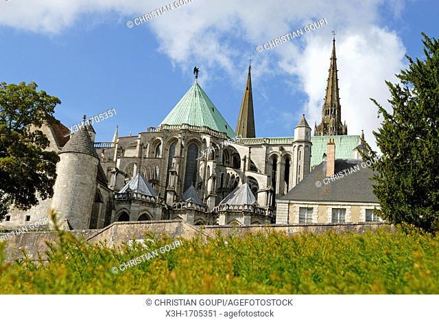 Cathedrale de Chartres, Eure-et-Loir department, Centre region, France, Europe