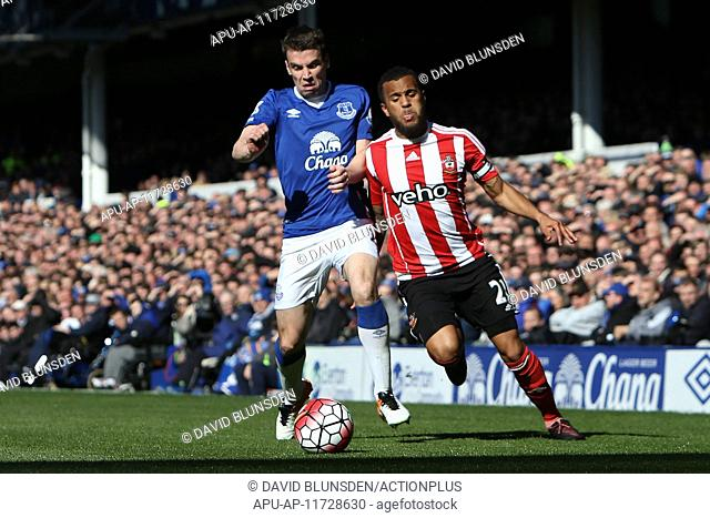 2016 Barclays Premier League Everton v Southampton Apr 16th. 16.04.2016. Goodison Park, Everton, England. Barclays Premier League