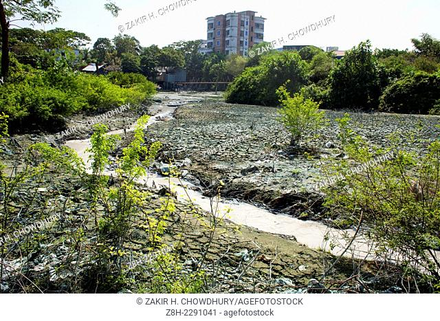 By throwing waste chemicals and oil from factories into canal and river became polluted soil and water in Dhaka which is harm for environment