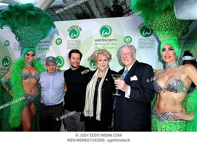 Grand Opening of Wahlburgers at Grand Bazaar Shops at Bally's Las Vegas Featuring: Paul Wahlberg, Mark Wahlberg, Mayor Carolyn Goodman