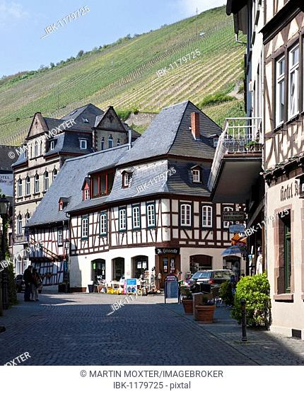 The old town of Bacharch, Unesco World Heritage Upper Middle Rhine Valley, Bacharach, Rhineland Palatinate, Germany, Europe
