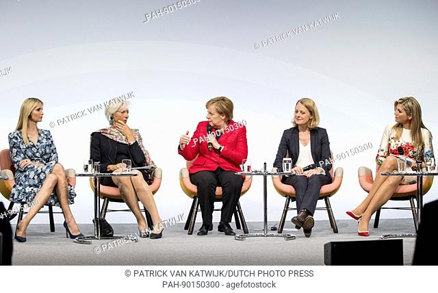 Ivan Trump, Canada's Minister of Foreign Affairs Chrystia Freeland, Christine Lagarde of the International Monetary, Chancellor Angela Merkel of Germany and...