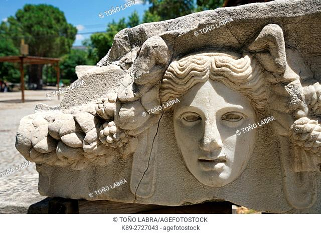 Portico of Tiberius Frieze. Aphrodisias. Ancient Greece. Asia Minor. Turkey