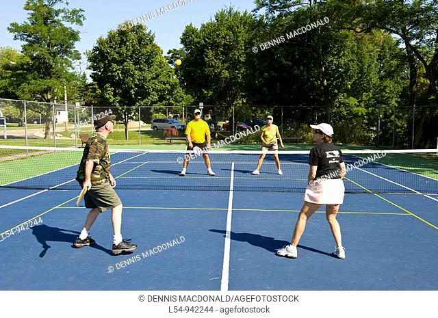 Pickleball is a tennis like sport played by people of all ages