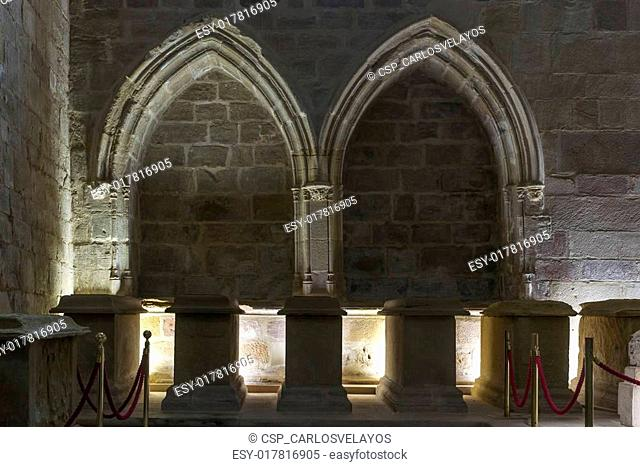 Pantheon of Infantes. Monastery of Santa Maria la Real de Najera, La Rioja. Spain. St. James Way