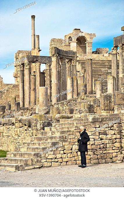 Ruins of Dougga ancient Roman city, Tunisia