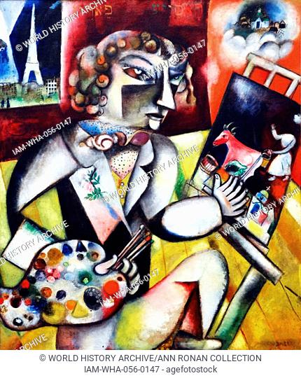 Self-portrait with Seven Fingers by Marc Chagall (1887-1985) was a Litvak-French artist. Art critic Robert Hughes referred to Chagall as 'the quintessential...
