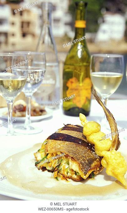 Restaurant Sa Tuna, Costa Brava, Spain, stuffed codfish