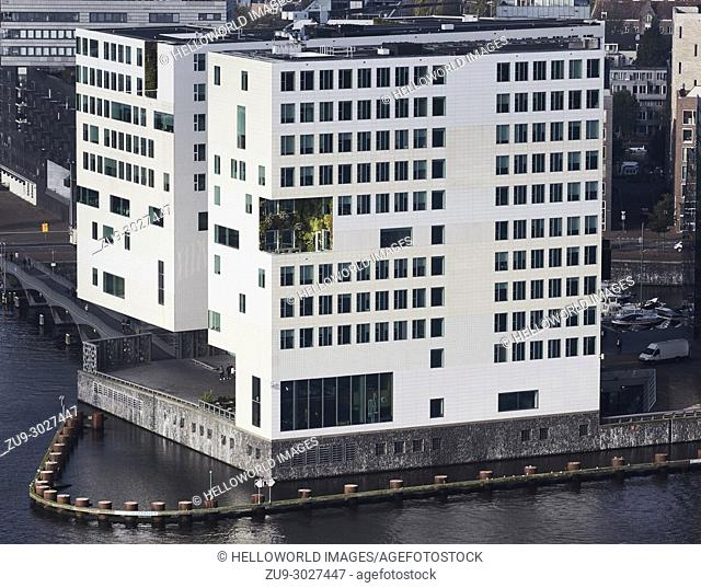 Palace of Justice (Paleis van Justitie), by Felix Claus, IJdock, Amsterdam, Netherlands. . One of a complex of buildings constructed on reclaimed land in the IJ...