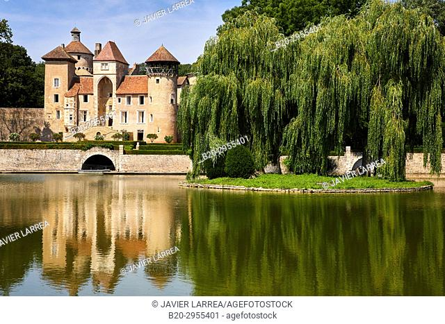 Castle of Sercy, Saone-et-Loire Department, Burgundy Region, Maconnais Area, France, Europe