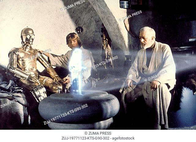 Nov 23, 1977; Hollywood, CA, USA; Image from George Lucas's action adventure 'Star Wars' starring ANTHONY DANIELS as C-3PO, MARK HAMILL as Luke Skywalker