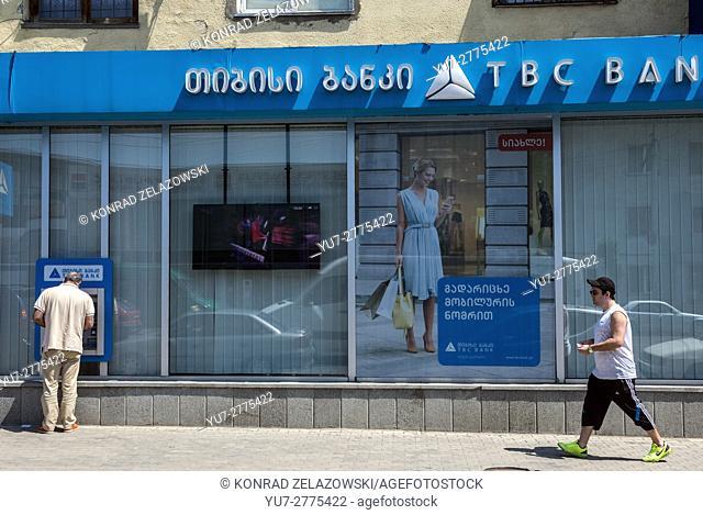 TBC Bank in Tskaltubo city, Imereti province, Georgia