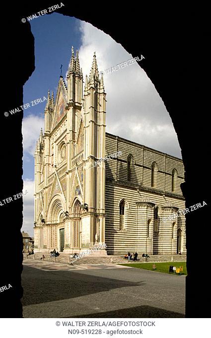 Duomo of Orvieto. Umbria. Italy