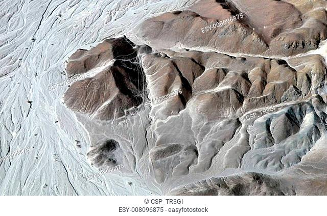 Nazca Lines - Astronaut - Aerial View
