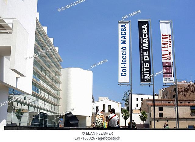Museu d'Art Contemporani, Raval, Barcelona, Catalonia, Spain