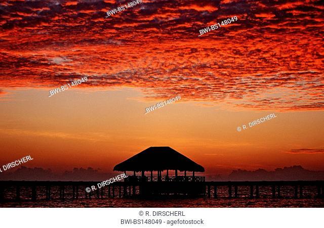 sunset on Maldives, Maldives, Indian Ocean, Meemu Atoll, Medhufushi