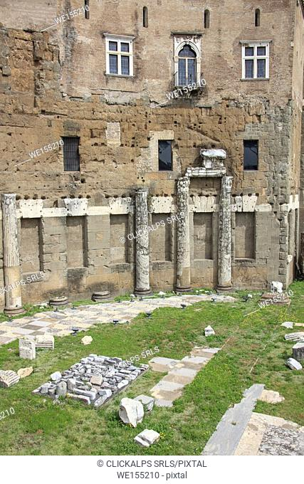 Details of the Trajan Forum and ruins symbol of the ancient Roman Empire Rome Lazio Italy Europe