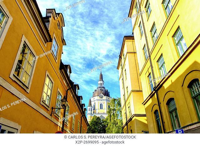Katarina church in Sodermalm district in Stockholm, Sweden Europe