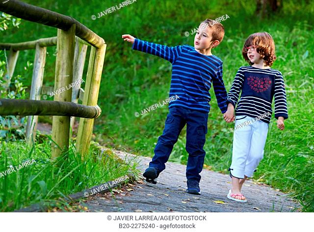 Boy and girl . Basque Country. Spain