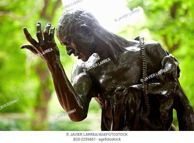 Pierre de Wissant. Sculpture by Auguste Rodin. Rodin Museum. Paris. France