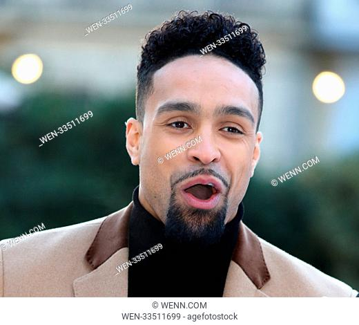 Dancing On Ice 2018 photocall at the Natural History Museum Ice Rink Featuring: Ashley Banjo Where: London, United Kingdom When: 19 Dec 2017 Credit: WENN