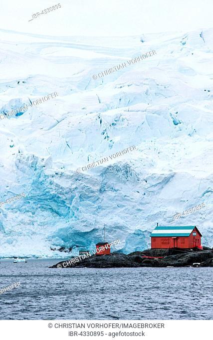 Argentine research station, Glacier, Antarctic Peninsula, Antarctica