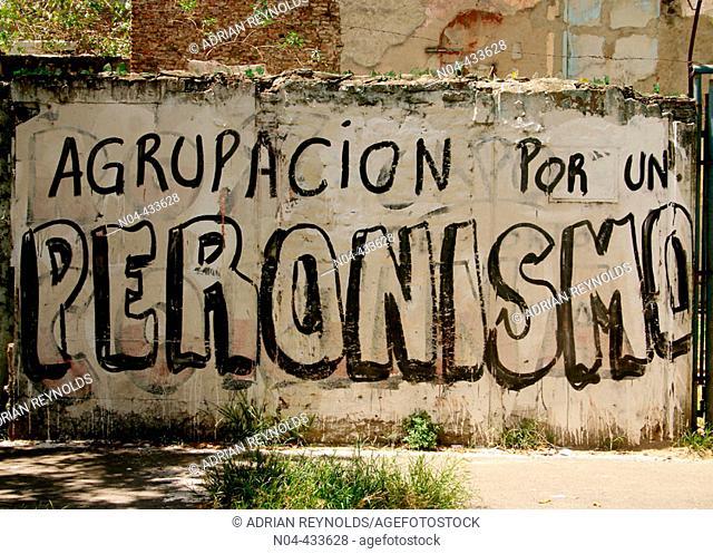 Graffiti in La Boca district, Buenos Aires. Argentina