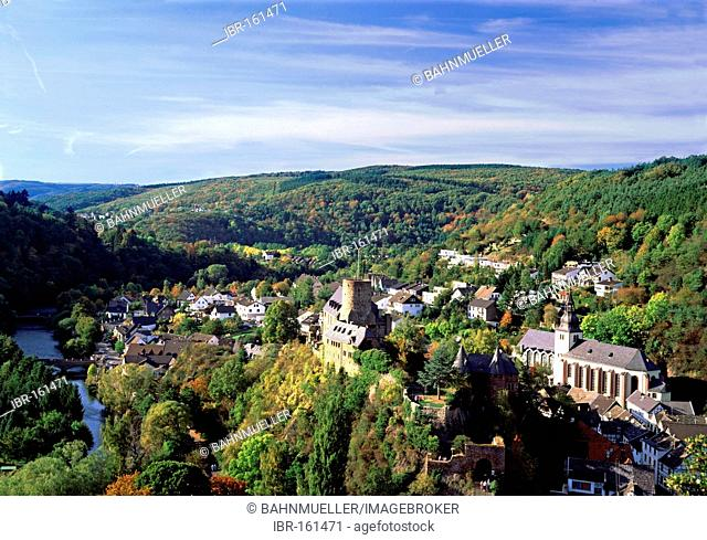 Heimbach upon the river Rur Eifel North Rhine-Westphalia Germany