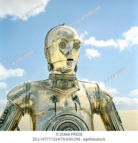 Nov 23, 1977; Hollywood, CA, USA; Image from George Lucas's action adventure 'Star Wars' starring ANTHONY DANIELS as C-3PO