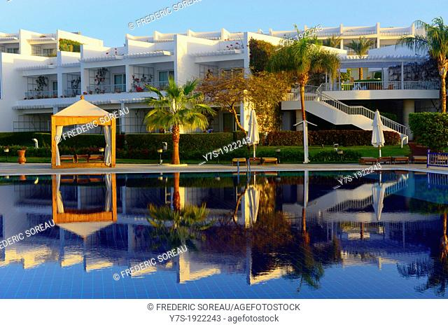 A swimming pool in the Ritz-Carlton resort,Sharm El Sheikh,Egypt