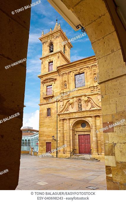 Oviedo in Asturias San Isidro Real church of Spain